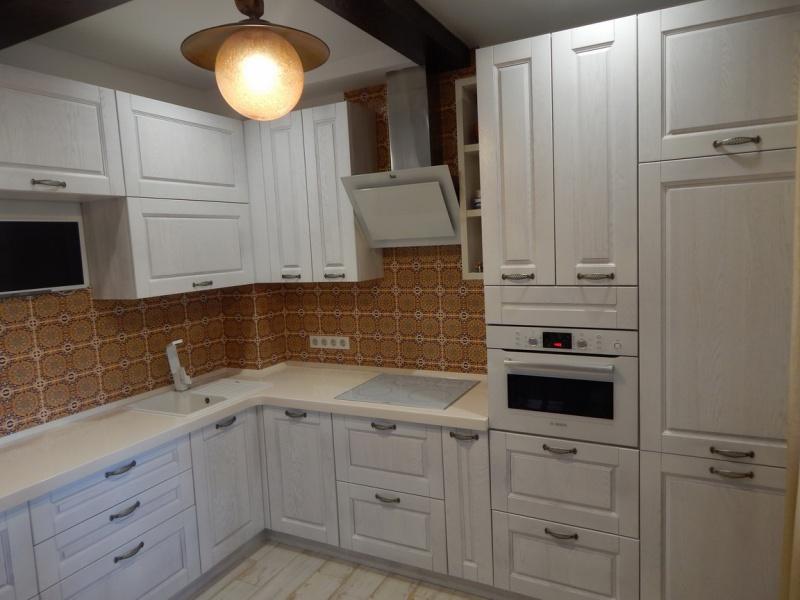 Фасад кухни белый ясень